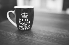Keep Calm And Drink Coffee Mug On A Table