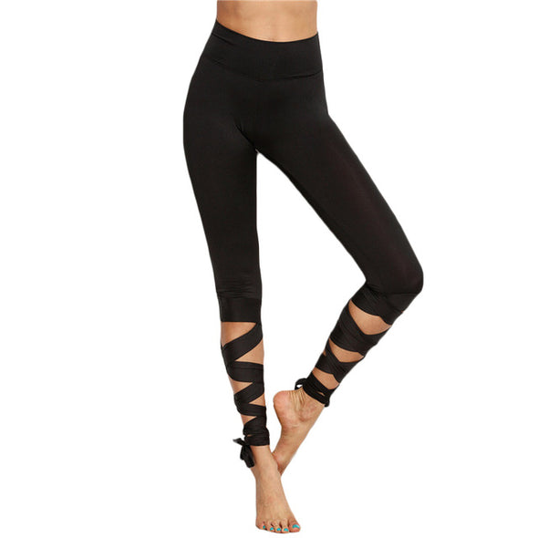 Tie Up High Waist Leggings
