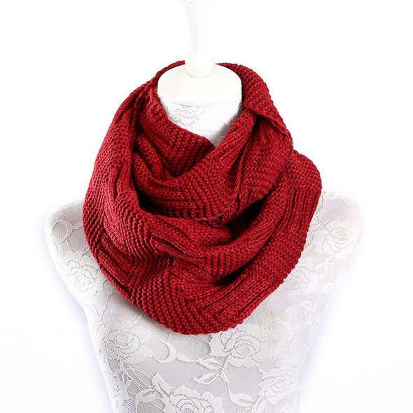 Knitted Cashmere Ring Scarf