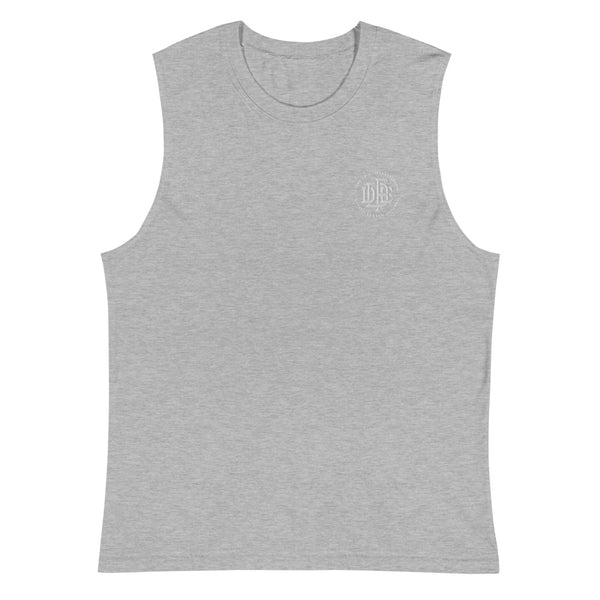 Premium Collection 'DDFE' Grey Sleeveless T-Shirt - Savage Season Apparel Store