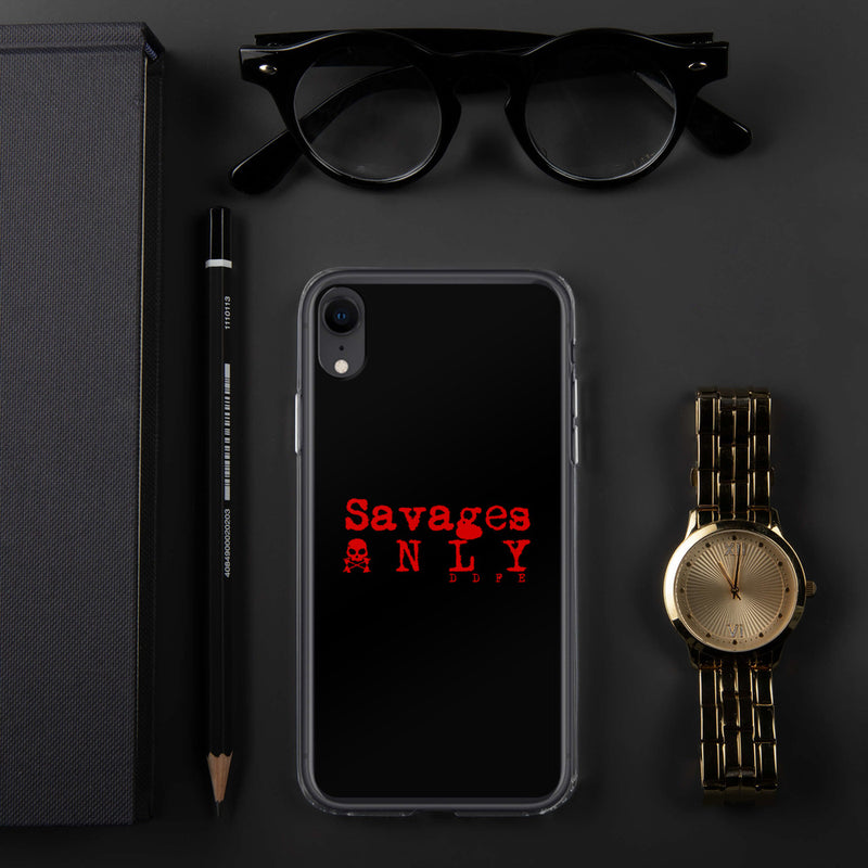 'Savages ONLY' iPhone Case - Savage Season Apparel Store