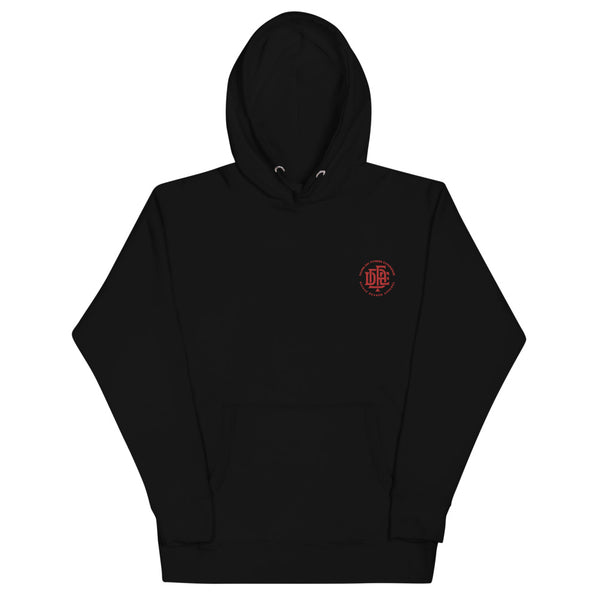 Premium Collection 'DDFE' Embroidered Black Hoodie - Savage Season Apparel Store