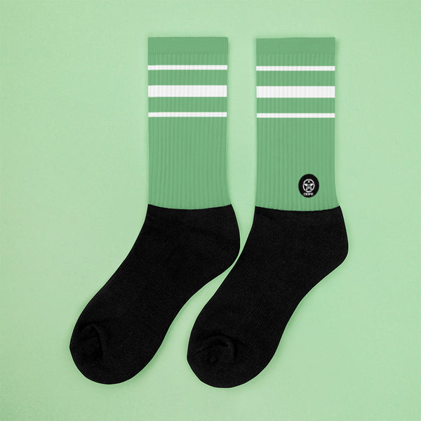 Classic Aqua Crew Sock - Savage Season Apparel Store