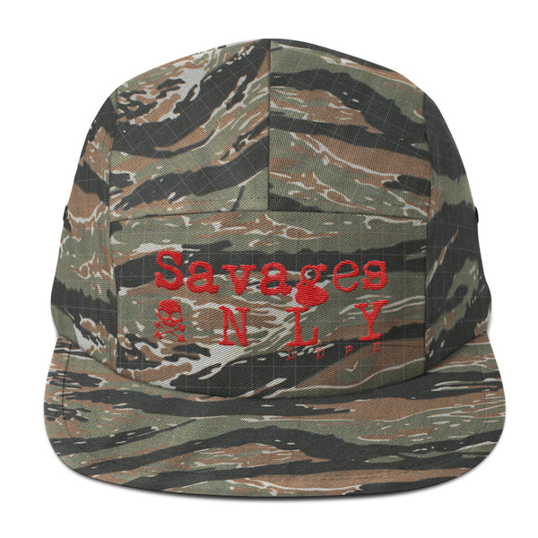 'Savages ONLY' Tiger Camo 5 Panel Cap - Savage Season Apparel Store