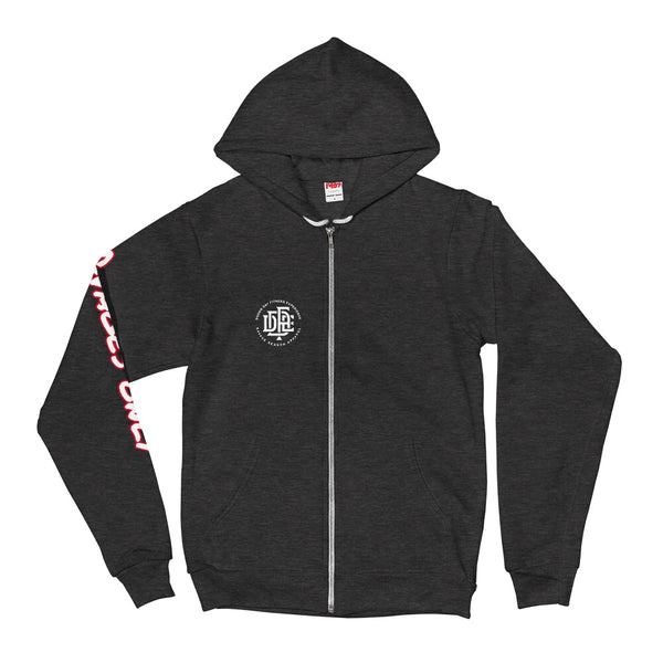 5-Star-G Unisex Dark Grey Zip Hooded Sweatshirt - Savage Season Apparel Store