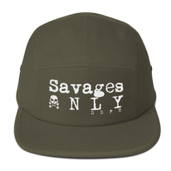 'Savages ONLY' Army Green 5 Panel Cap - Savage Season Apparel Store