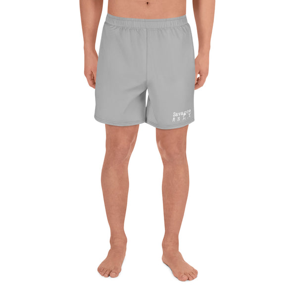 'Savages ONLY' Heather Grey Warm-Up Shorts - Savage Season Apparel Store