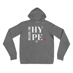 'Believe The Hype' Grey x White Pullover Hooded Sweatshirt - Savage Season Apparel Store