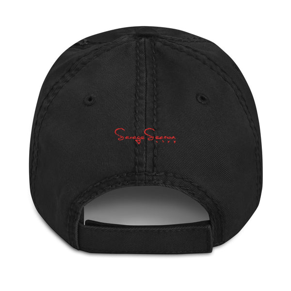 Premium Collection Black Distressed Dad Hat - Savage Season Apparel Store