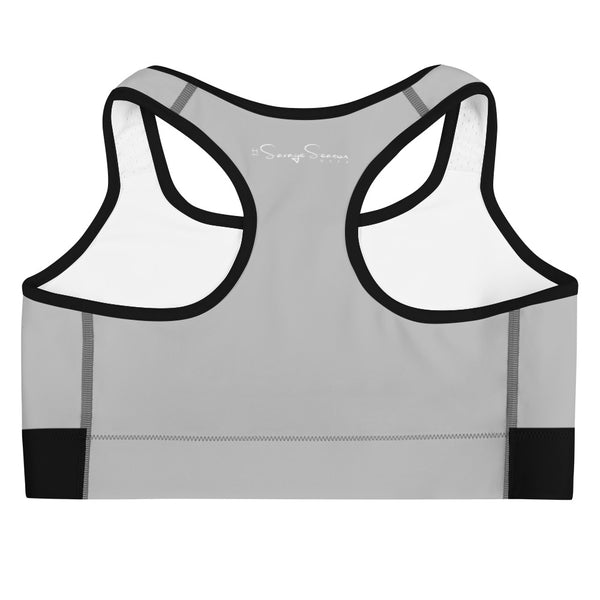 'Savages ONLY' Heather Grey Sports Bra - Savage Season Apparel Store