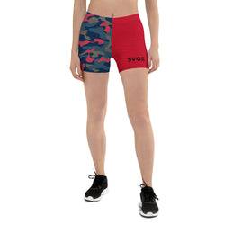 SVGE Collection Nunu Camo x Red Performance Shorts - Savage Season Apparel Store