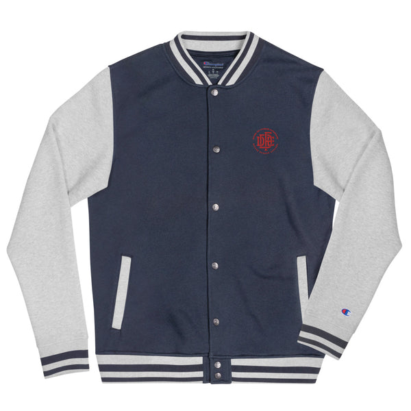 Premium Collection 'DDFE' Blue x Grey Bomber Jacket by Champion - Savage Season Apparel Store
