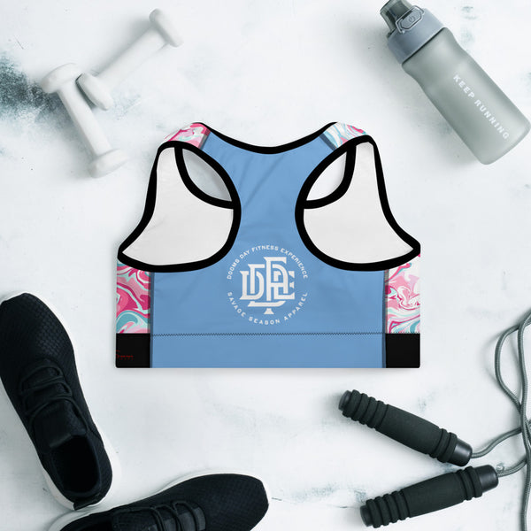 Premium Collection 'DDFE' Baby Blue x Swirl Performance Top - Savage Season Apparel Store