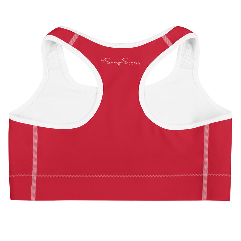 'DDFE' Red Sports Bra - Savage Season Apparel Store
