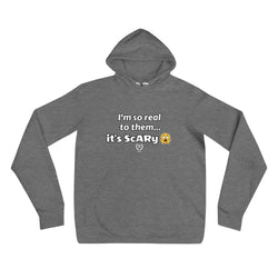 'So Real It's Scary' Grey Hooded Sweatshirt - Savage Season Apparel Store