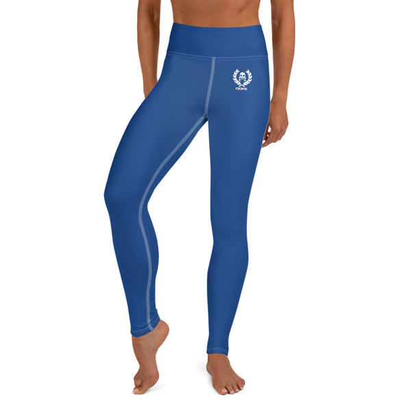'DDFE' High Waist Blue Performance Leggings - Savage Season Apparel Store