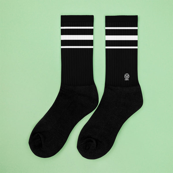 Classic Black Crew Sock - Savage Season Apparel Store