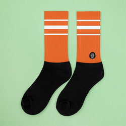 Classic Orangy Crew Sock - Savage Season Apparel Store