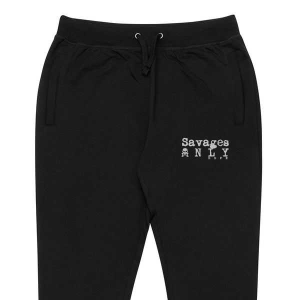 'Savages ONLY' Black Lifestyle Joggers - Savage Season Apparel Store
