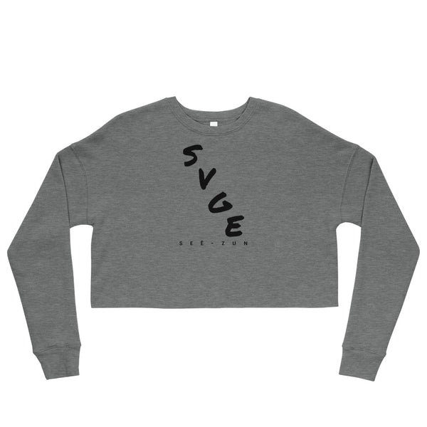 SVGE Collection Heather Crop Sweatshirt - Savage Season Apparel Store