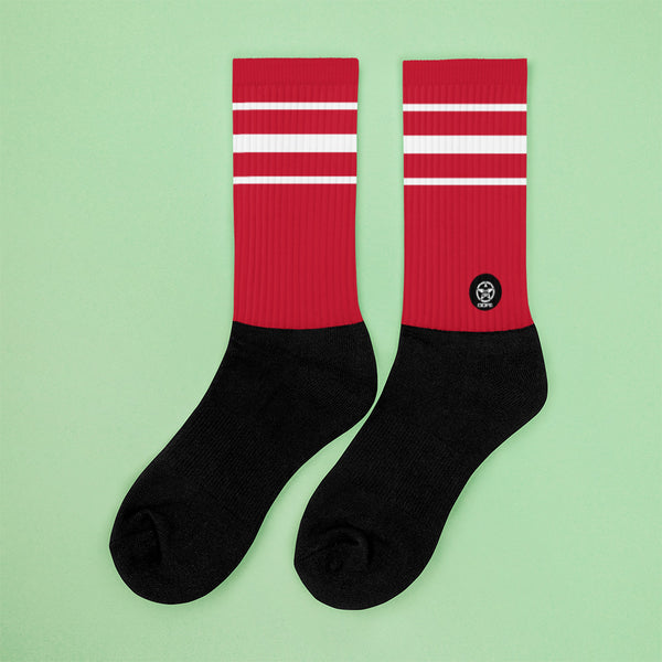 Classic Red Crew Sock - Savage Season Apparel Store