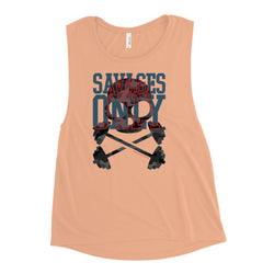 'Savages Only' Ladies' Nude Muscle Tank - Savage Season Apparel Store
