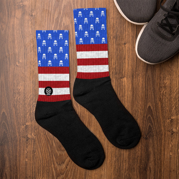 'Savages ONLY' PATRIOT Crew Sock - Savage Season Apparel Store