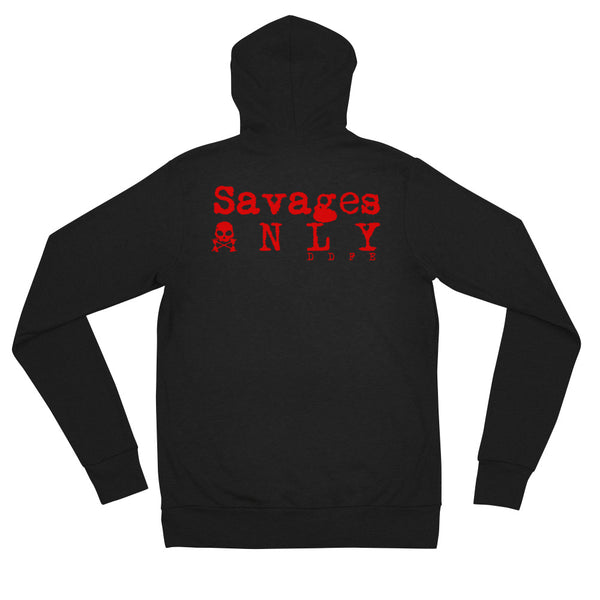 Limited Edition 'Savages ONLY' Unisex zip hoodie - Savage Season Apparel Store