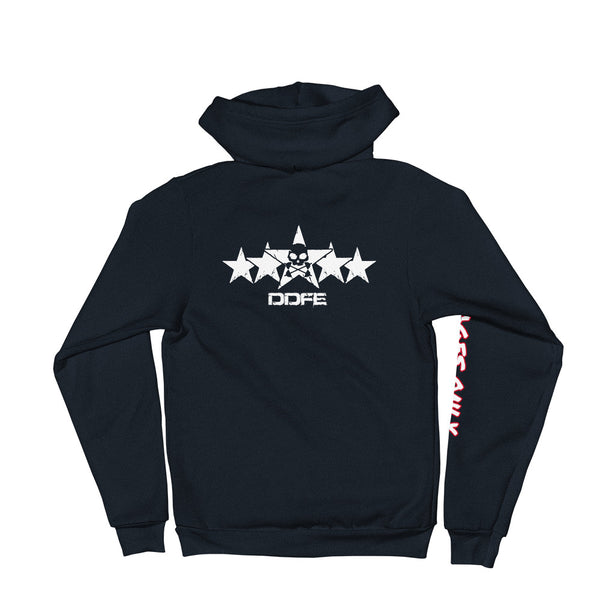 5-Star-G Unisex Navy Zip Hooded Sweatshirt - Savage Season Apparel Store