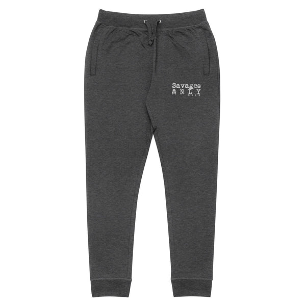 'Savages ONLY' Grey Lifestyle Joggers - Savage Season Apparel Store