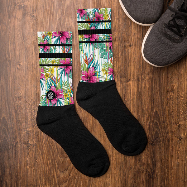 'Savages ONLY' FLOWER POWER Crew Sock - Savage Season Apparel Store