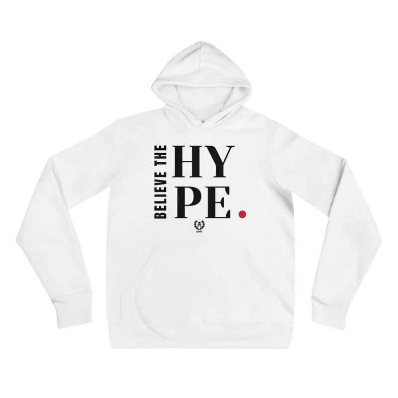 'Believe The Hype' White x Black Pullover Hooded Sweatshirt - Savage Season Apparel Store