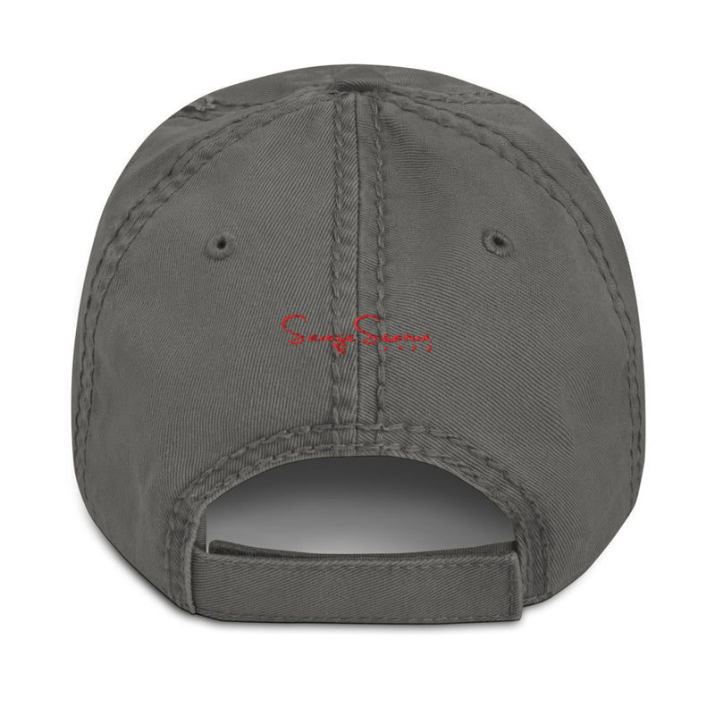 Premium Collection Charcoal Distressed Dad Hat - Savage Season Apparel Store