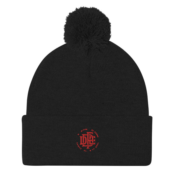 Premium Collection 'DDFE' Black Pom-Pom Beanie - Savage Season Apparel Store