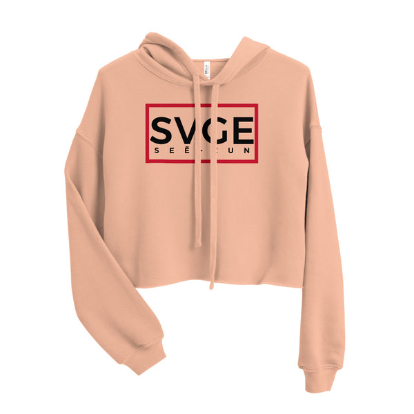 SVGE Collection Peach Crop Hoodie - Savage Season Apparel Store