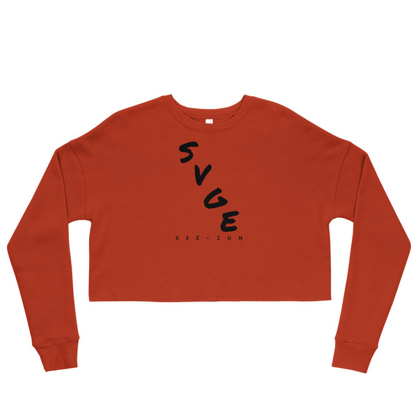 SVGE Collection Brick Crop Sweatshirt - Savage Season Apparel Store