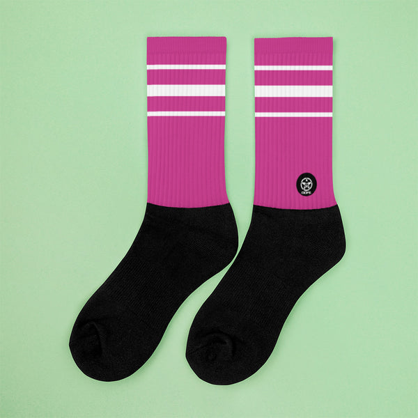 Classic Pretty Pink Crew Sock - Savage Season Apparel Store