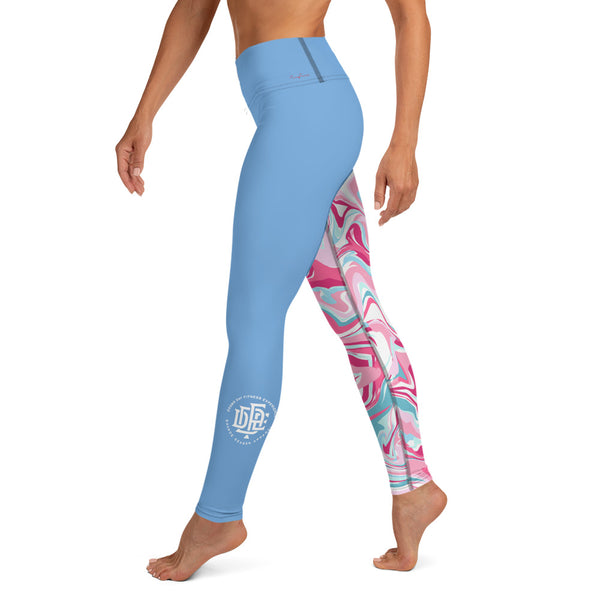 Premium Collection Baby Blue x Swirl Leggings - Savage Season Apparel Store