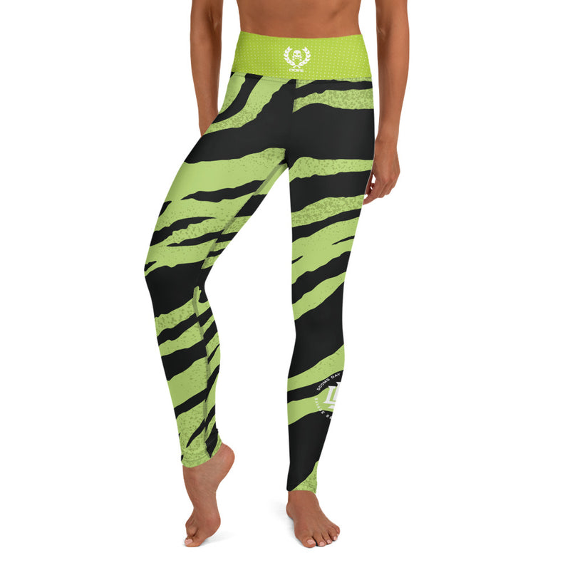 Premium Collection 'Green Tiger Stripe' Leggings - Savage Season Apparel Store