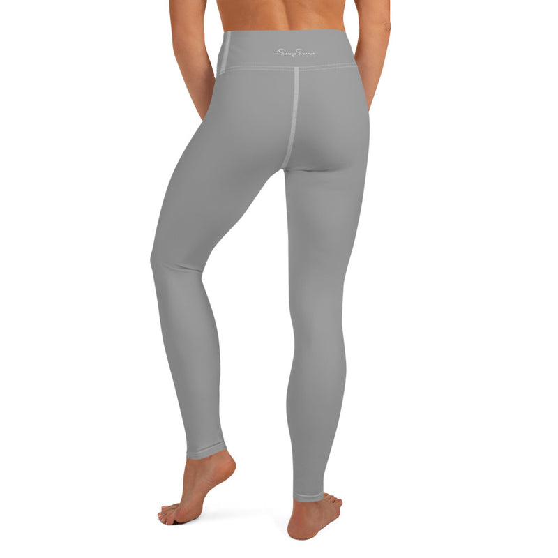 'DDFE' High Waist Grey Performance Leggings - Savage Season Apparel Store
