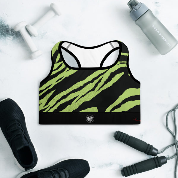 Premium Collection 'DDFE' Green Tiger Stripe Performance Top - Savage Season Apparel Store