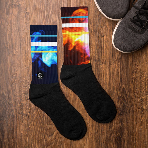 'Savages ONLY' FIRE & ICE Crew Sock - Savage Season Apparel Store