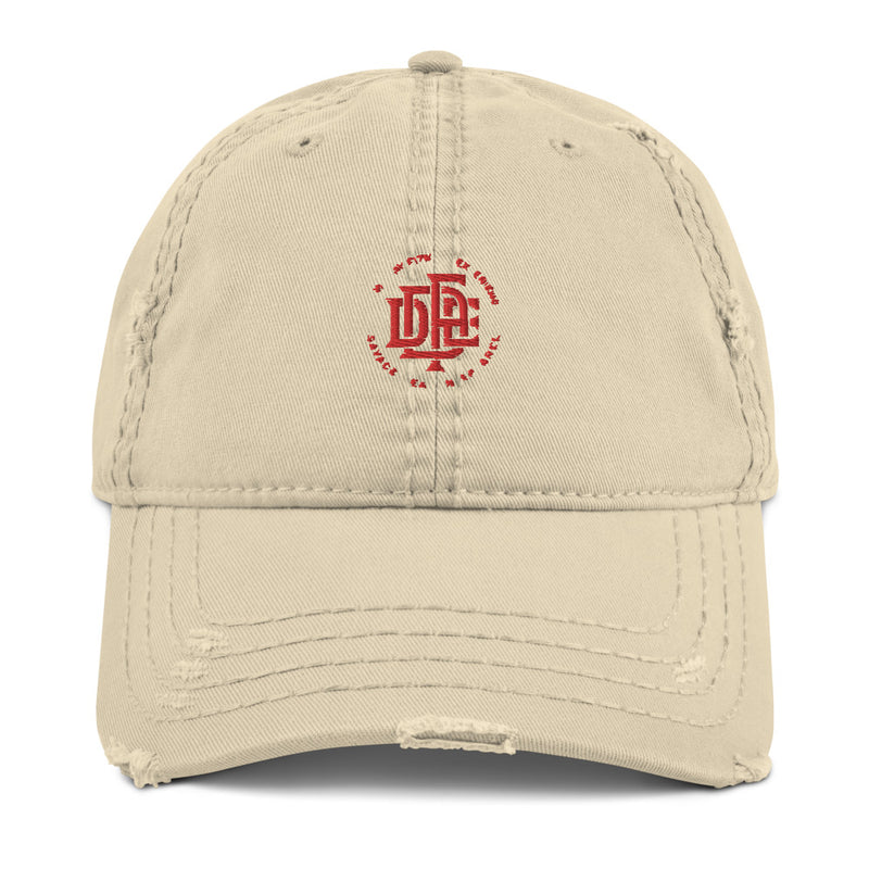 Premium Collection Khaki Distressed Dad Hat - Savage Season Apparel Store