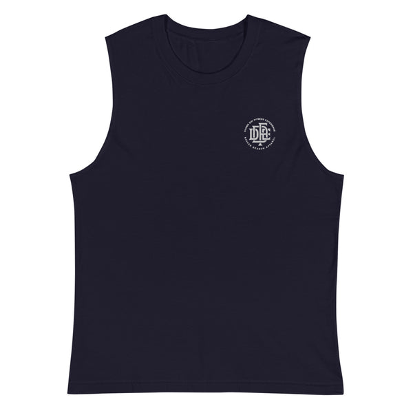 Premium Collection 'DDFE' Navy Sleeveless T-Shirt - Savage Season Apparel Store