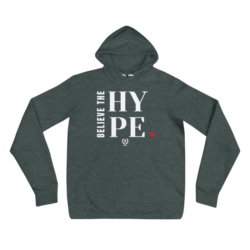 'Believe The Hype' Forest x White Pullover Hoodie - Savage Season Apparel Store