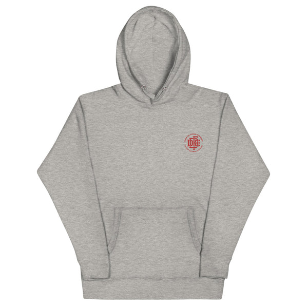 Premium Collection 'DDFE' Embroidered Heather Grey Hoodie - Savage Season Apparel Store