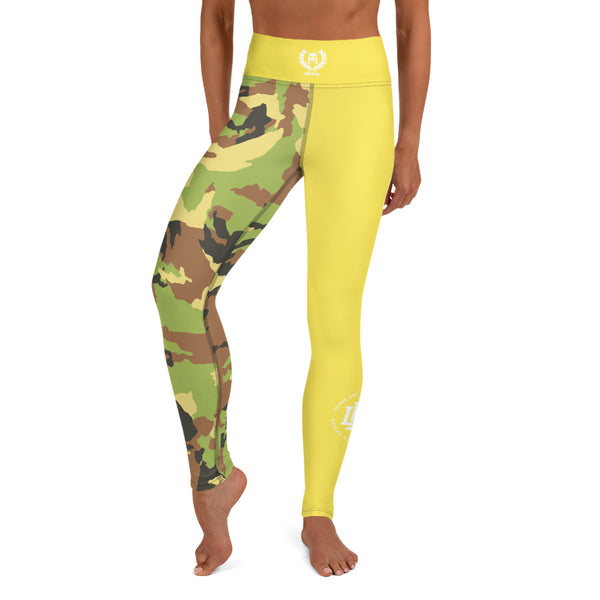 Premium Collection 'DDFE' Army x Gold Performance Leggings - Savage Season Apparel Store