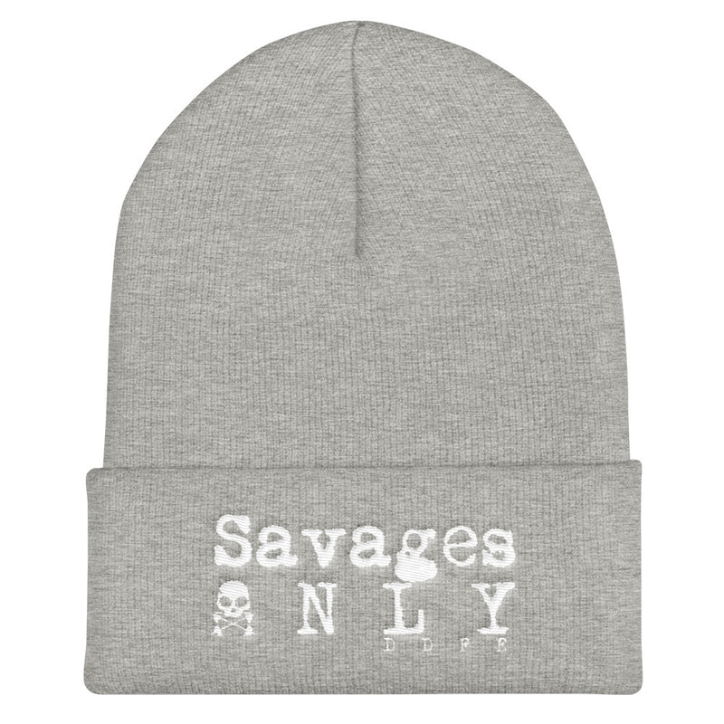 'Savages ONLY' Cuffed Beanie - Savage Season Apparel Store