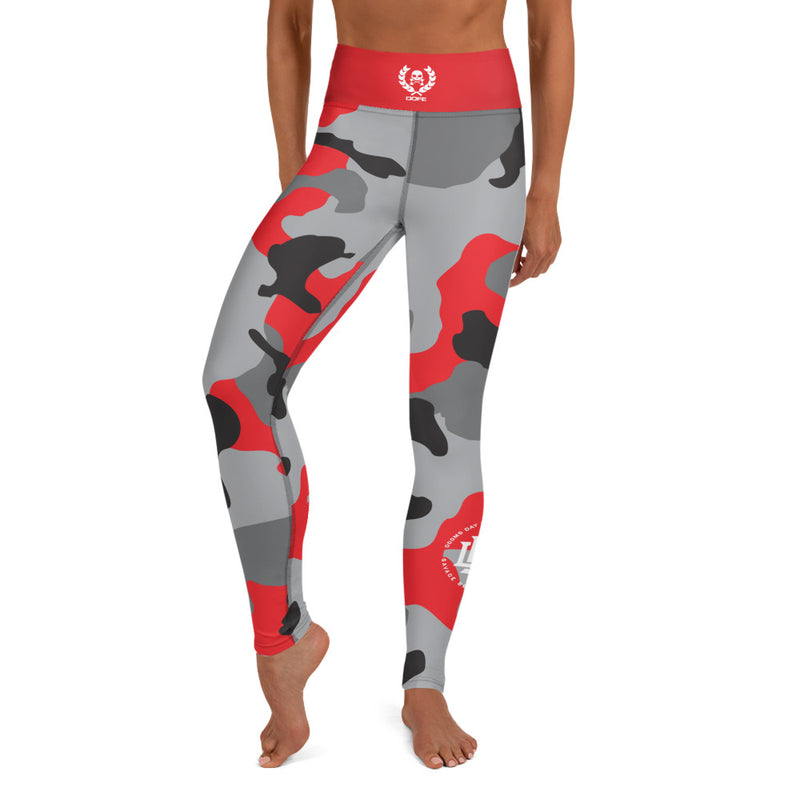 Premium Collection 'Battle Red' Camo Leggings - Savage Season Apparel Store