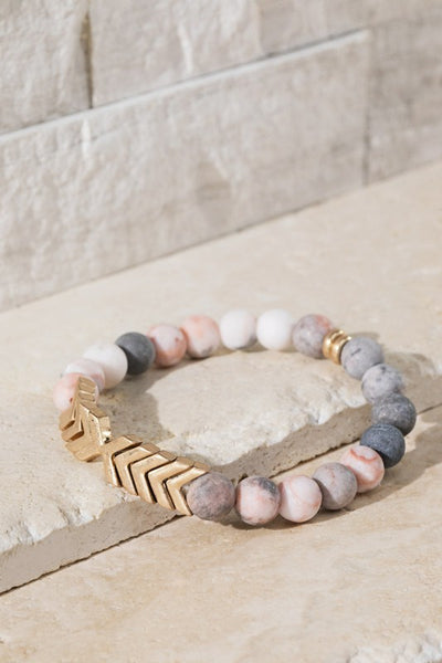 June Chevron Stone Bracelet - 4 Color Options